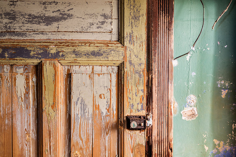 Detail of a Door in an Abandoned Building