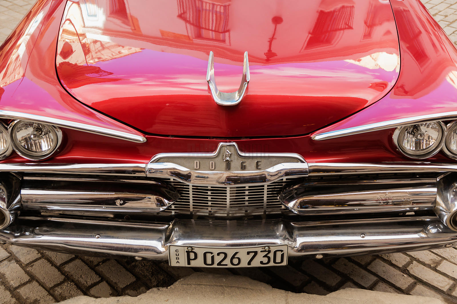 Front End of a Vintage Dodge