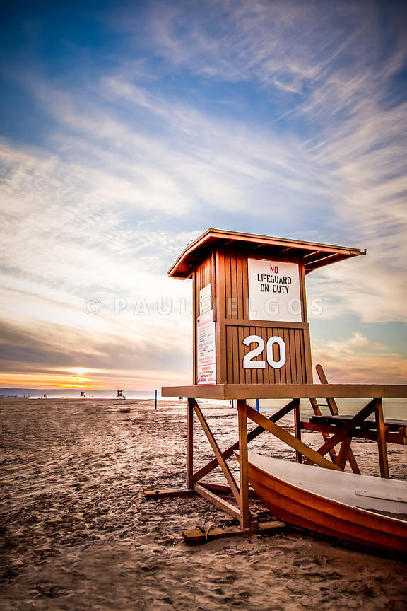 Lifeguard Tower 20 Newport Beach CA Picture