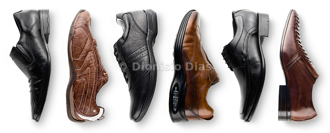Men's shoes, social and online sport, on a white background