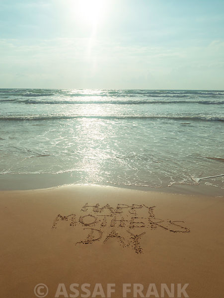 Beach writing - Happy mothers day
