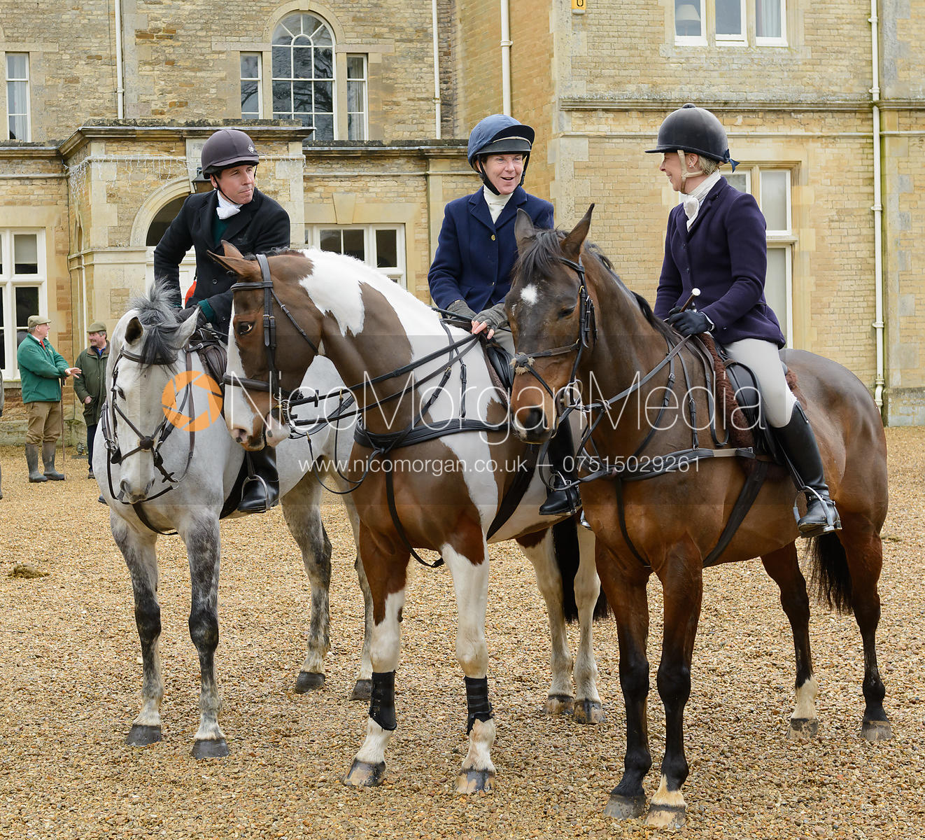 at the meet at Exton Hall