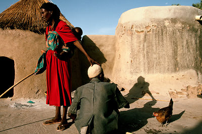 Asumpaheme gently touches her husbands?Äô head as she leaves to fetch water