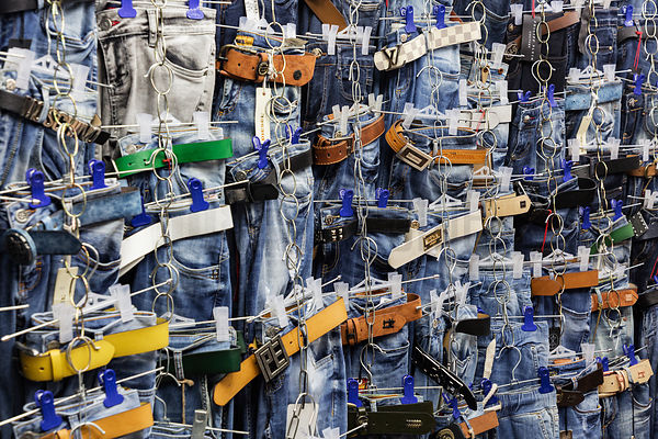 Jeans for Sale at the Osh Market