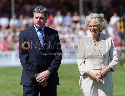 Lance Bradley and the Duchess of Cornwall - show jumping phase,  Mitsubishi Motors Badminton Horse Trials, 6th May 2013.