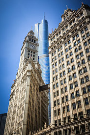 Chicago Trump Tower and Wrigley Building