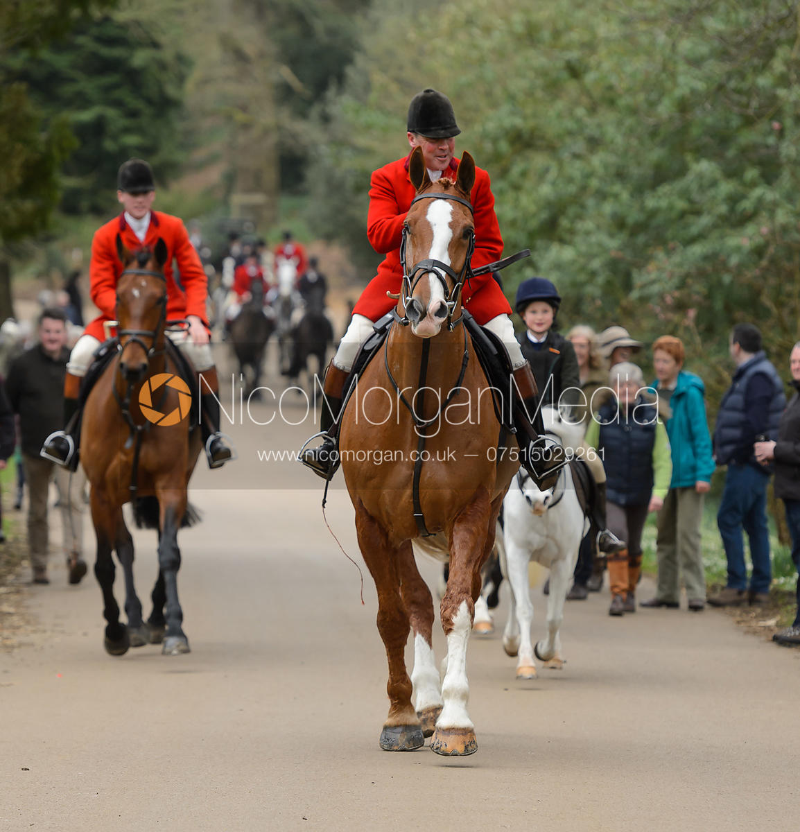 John Holliday arriving at the meet - The South Shropshire and Belvoir Hunts at Belvoir Castle 11/3/17