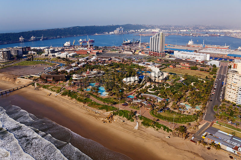 uShaka Entertainment Complex, and the Durban Harbour, The Point, Durban, Kwazulu Natal, South Africa