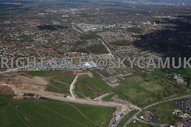 Manchester aerial photograph of Ringway Trading  Estate Shadowmoss Road Ferranti and Atlas Business Park Simonsway with Manch...