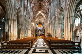 Interior of Worcester Cathedral.