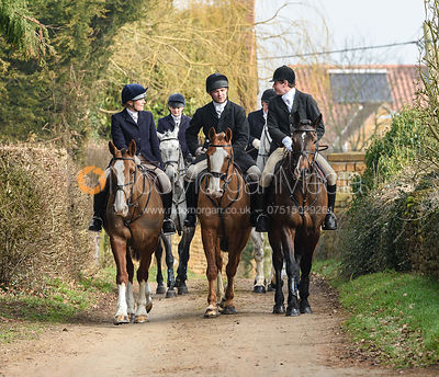 George Ward arriving at the meet. The Belvoir Hunt at Springfield Farm 23/2