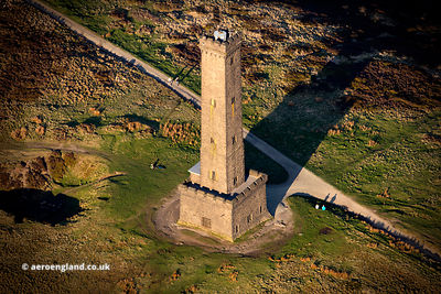"Peel Monument ""Holcombe Tower"" from the air"