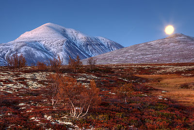 Mountainous landscape, Rondane National Park, Norway, September 2010.