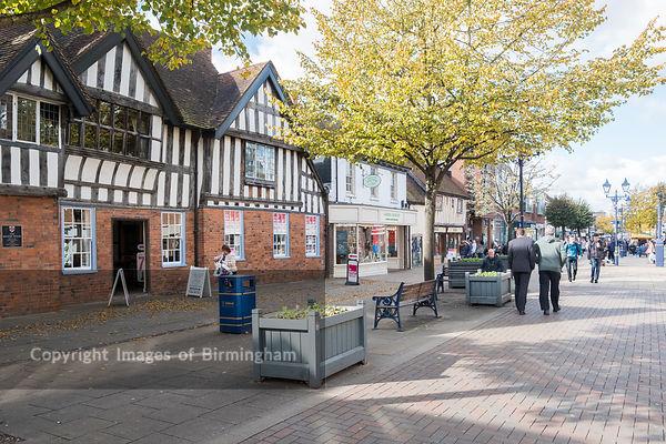 Solihull town centre, near Birmingham, England
