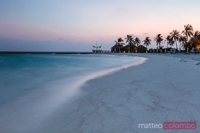 Sunrise over tropical island, Maldives