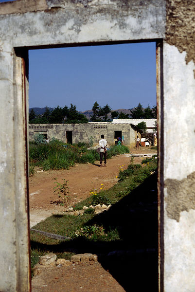 Burundi - Ruyigi - A man in a doorway in Ruyigi
