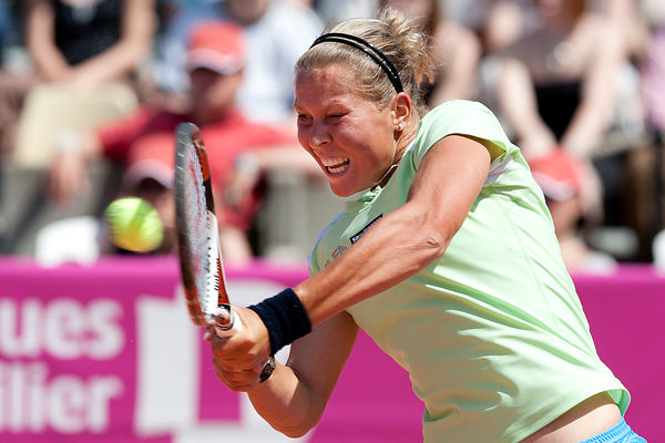 STRASBOURG: WTA tennis tournament  - French Aravane Rezai VS Czech Lucie Hradecka
