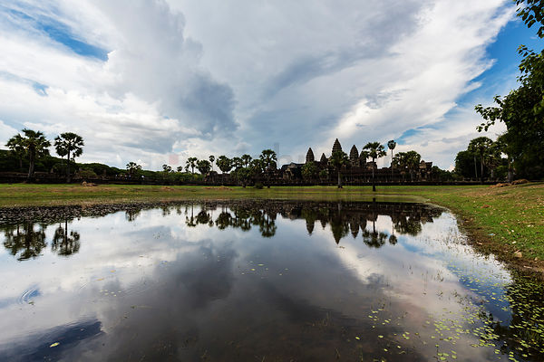 Reflection of Angkor Wat in Small Pond