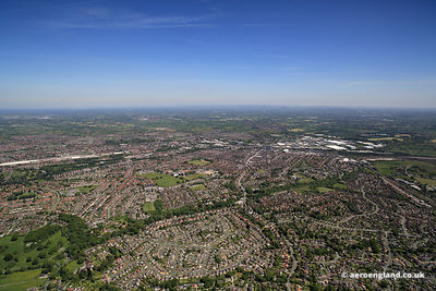 aerial photograph of Crewe Cheshire England UK
