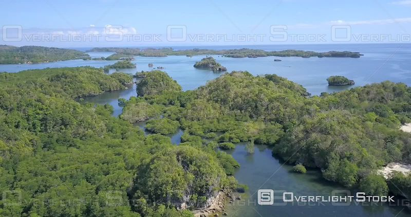 Guimaras Island Gulf of Panay. National Marine Reserve in Taklong island Drone Video Philippines