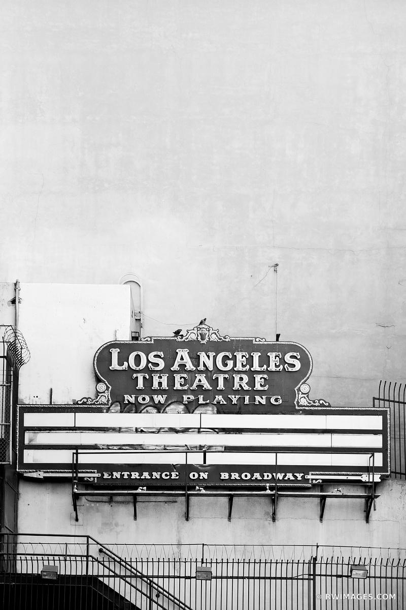 LOS ANGELES THEATRE HISTORIC DOWNTOWN LOAS ANGELES CALIFORNIA BLACK AND WHITE VERTICAL