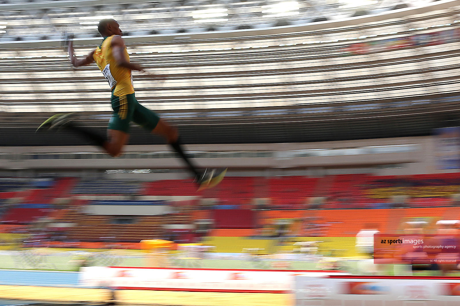 Long Jump. South Africa's Godfrey Khotso Mokoena.