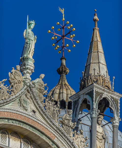 Detail of the Basilica de San Marco Rooftop