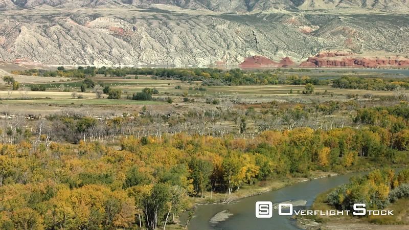 The seasons change as the Bighorn River valley showcases its golden Cottonwood and Aspen trees in the high desert of northern...