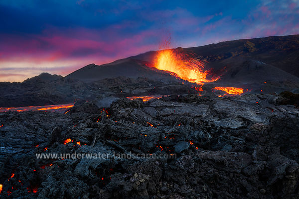 The fire at blue Hour