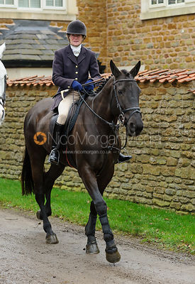 Lady Sarah McCorquodale - The Belvoir Hunt at Springfield Farm 25/2