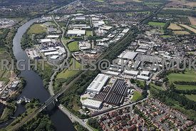 Cadishead aerial photograph of the The Northbank Industrial Park and Fairhills Industrial Estate