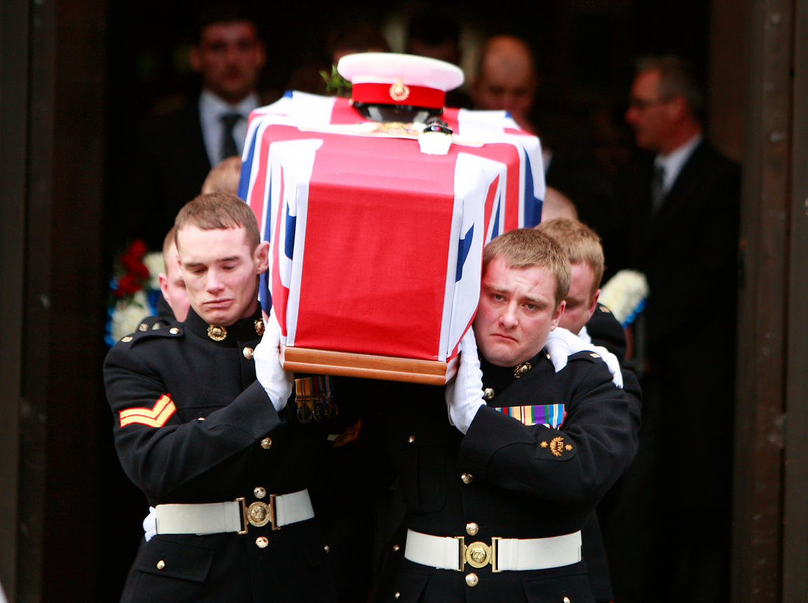 Funeral at St Georges Church for Corporal Danny Winter