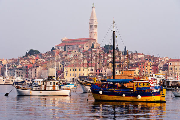 The Town of Rovinj at Dawn, Istria, Croatia