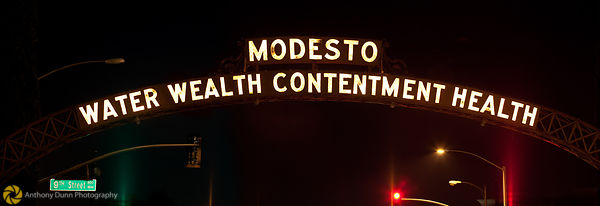 The Modesto Arch at Night #1