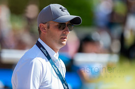 29/07/18, Berlin, Germany, Sport, Equestrian sport Global Jumping Berlin - Chmpionat der DKB von Berlin -   Image shows Karel...