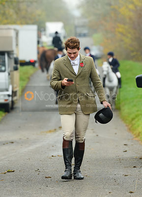 Alexander Tordoff at second horses. The Cottesmore Hunt at Braunston