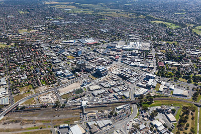 Dandenong with Dandenong Market in background. Australia