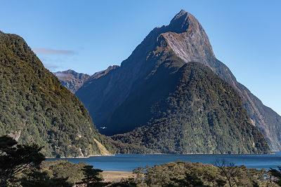 Light aircraft in Milford Sound