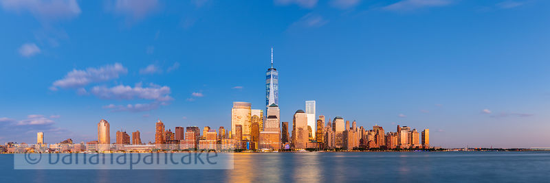 Lower Manhattan skyline from New Jersey, New York - BP4487