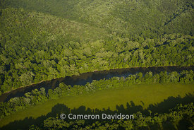 Aerial photograph of the Shenadoah River of Virginia