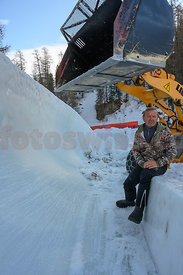 Natalino Bera, the Artist, the BUILDER of the Cresta Run in Saint Moritz