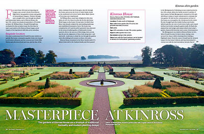 Kinross House, Perthshire; Publication: The Garden (RHS)