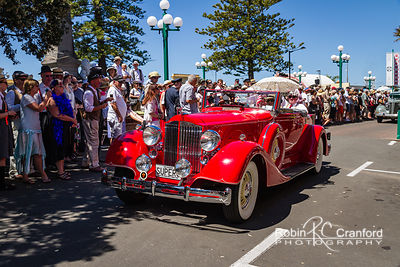 Art Deco Saturday 2012 - Vintage Car Parade.  License Plate = SUPER8