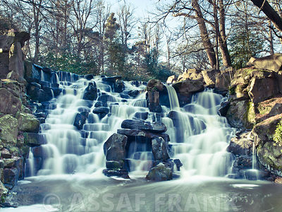 Waterfall at winter