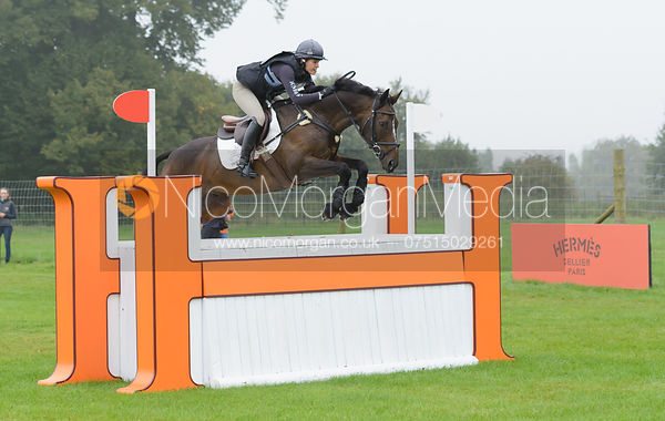 Polly Jackson and HIGHLAND CHARM - cross country phase,  Land Rover Burghley Horse Trials, 6th September 2014.