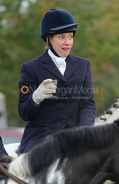 Sophie Brown at the meet - The Cottesmore at Langham.