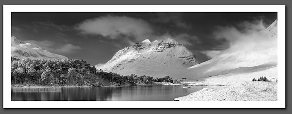 Liathach panoramic Black and White print - BP2285BW