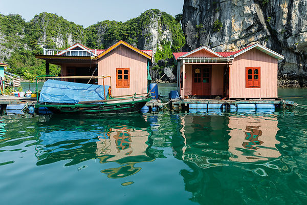 Floating Villlage on Halong Bay