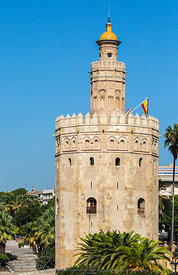 Tower of Gold (Torre del Oro) in Seville, Spain