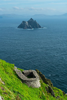 Skellig Michael, Skellig Islands World Heritage Site, County Kerry, Ireland, Europe. September 2015.